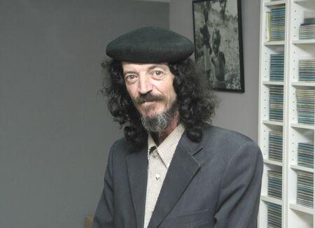 overburden: Bohemian man Stock Photo