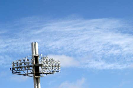 halogen lighting: spotlights in a football stadium