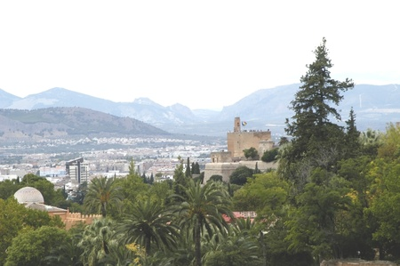20101004 - Granada - Spain - View of the Torre de la Vela de la Alhambra in Granada City