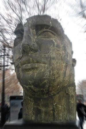 2006/02/14 - granada - spain - igor mitoraj sculptures in the streets of downtown granada Stock Photo - 9644256