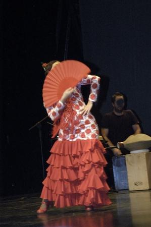 pablo neruda: 20101205 - granada - spain - flamenco evening in the theater pablo neruda, in the town of peligros, in the province of granada