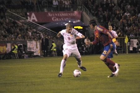 horizontal gamefans: international football match between the spanish team in football and the czech republic in the stadium crmenes of granada 25032011 Editorial