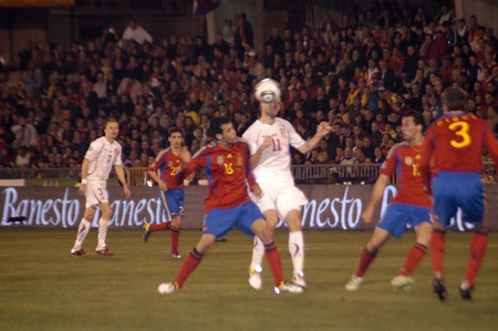 infractions: international football match between the spanish team in football and the czech republic in the stadium crmenes of granada 25032011 Editorial