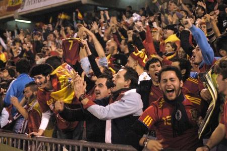 Partido de fútbol entre la selección española de fútbol y la República Checa en el estadio crmenes de granada 25/03/2011 Foto de archivo - 9690814