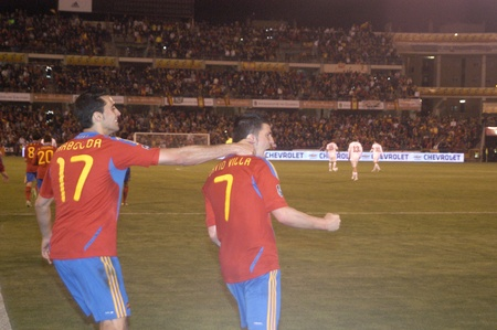 umpiring: international football match between the spanish team in football and the czech republic in the stadium crmenes of granada 25032011 Editorial