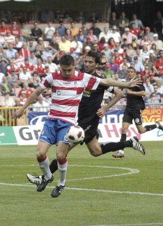 football match between the second division granada and cartagena cf 02/04/2011 Stock Photo - 9690823