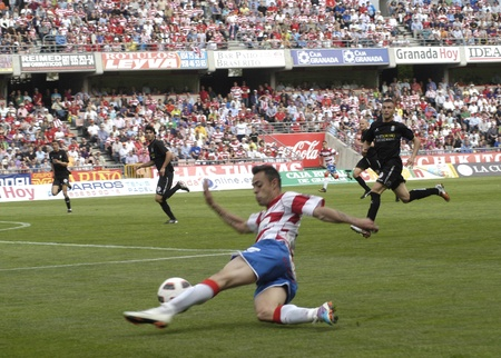 football match between the second division granada and cartagena cf 02/04/2011 Stock Photo - 9690837