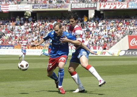 football match between granada cf numancia 16.04.2011