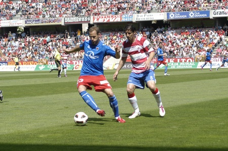 football match between granada cf numancia 16.04.2011 Stock Photo - 9690870