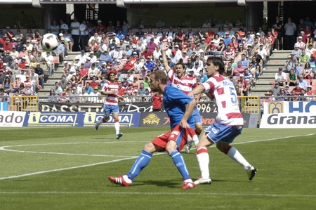 umpiring: football match between granada cf numancia 16.04.2011