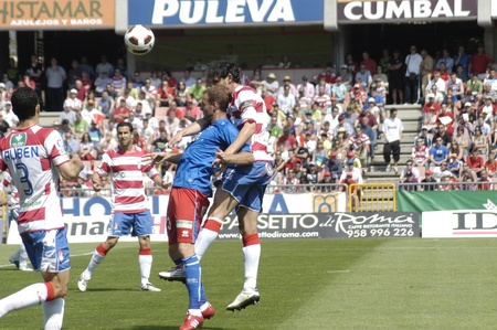 football match between granada cf numancia 16.04.2011 Stock Photo - 9690861