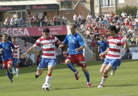 football match between granada cf numancia 16.04.2011 Stock Photo - 9690857