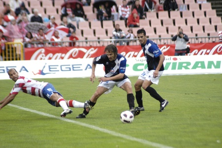 football match between granada and tenerife cf 05/01/2011 Stock Photo - 9690901