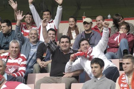warning fans: football match between granada and tenerife cf oscar pitarra 05012011 Editorial