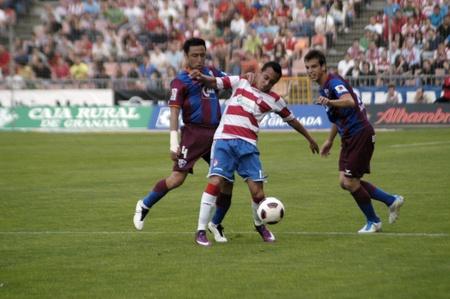 football match between granada and huesca cf 12052011