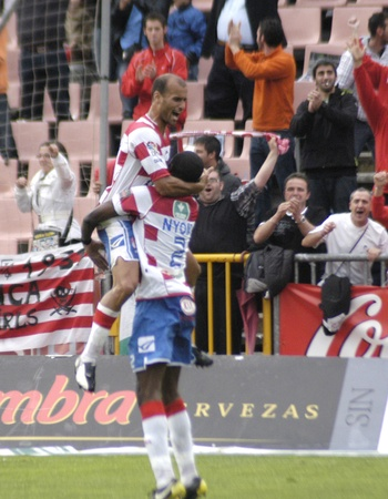 warning fans: football match between granada and tenerife cf 05012011 Editorial