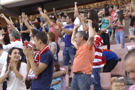 umpiring: football match between granada and elche cf fans 29052011