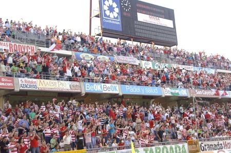 football match between granada and elche cf fans 29052011