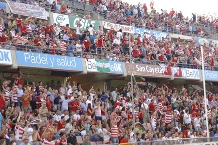 umpiring: football match between granada and elche cf fans 29052011