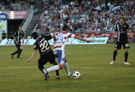 warning fans: 20110529 - granada - spain - football game between the granada and elche cf