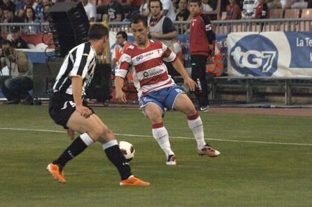 warning fans: 20110525 - granada - spain - football game between the granada cf and udinese calcio