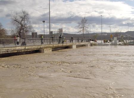 08/01/2010 - spain - granada - floods in huetor chop, in the province of granada, due to rainstorm Stock Photo - 9649295
