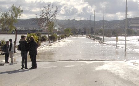 08/01/2010 - spain - granada - floods in huetor chop, in the province of granada, due to rainstorm Stock Photo - 9649298