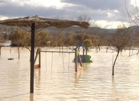 08/01/2010 - spain - granada - floods in huetor chop, in the province of granada, due to rainstorm Stock Photo - 9649299