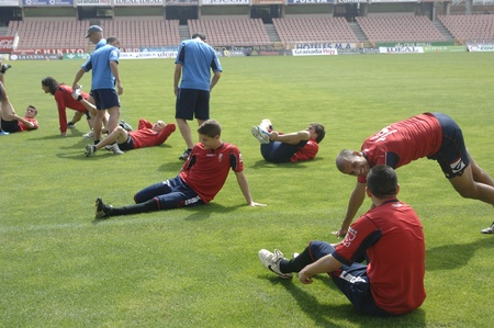 2011/06/10 - spain - granada - heat after practice of granada cf Stock Photo - 9707667