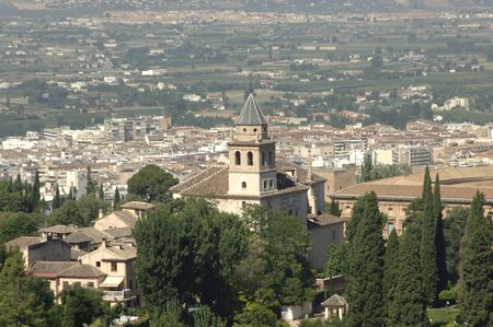 view of the church of santa maria de la alhambra in granada 06092011