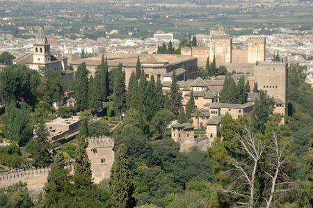 view of the alhambra in granada 09062011
