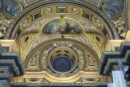architectural detail of the baroque in baslica of the virgin of sorrows of granada 20062011