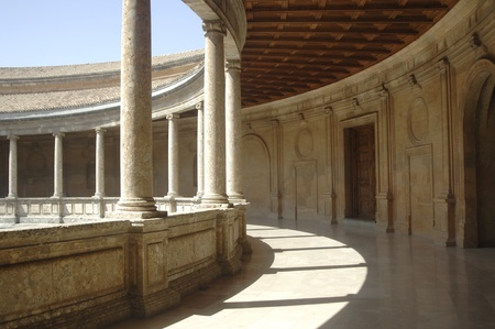 carlos: inside the palace of carlos v, 07212011 next to the alhambra Editorial