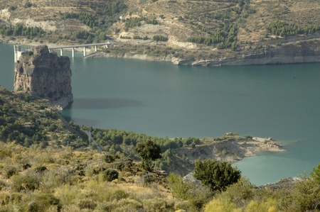 channel in view of the sierra nevada marsh, in the province of granada 08/12/2011 Stock Photo - 10371624