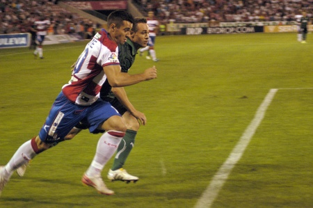 cf: football game between the granada cf and real betis 27082011 Editorial
