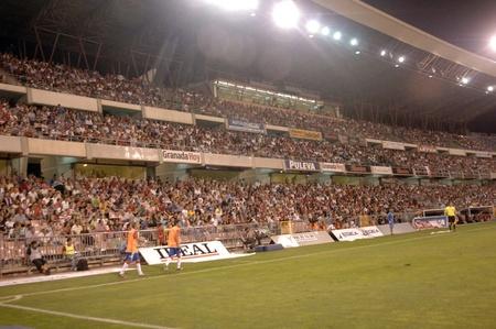 Partido de fútbol entre el granada cf y el real betis 27/08/2011 Foto de archivo - 10405060