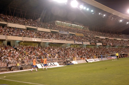 Partido de fútbol entre el granada cf y el real betis 27082011