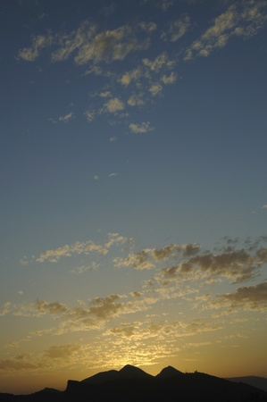 background of a sunset in sierra elvira, granada province on 29082011 photo