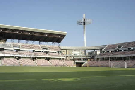 bleachers: football stadium Editorial