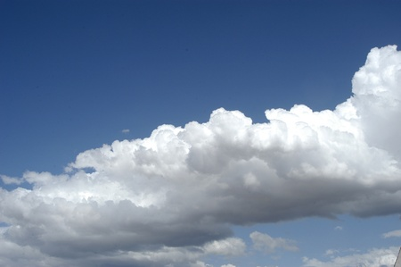the silence of the world: clouds of heaven with diurnal evolution Stock Photo