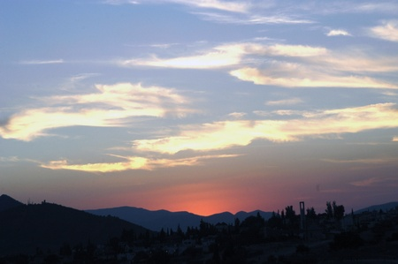 sunset in sierra elvira, view from the town of hazard, in the province of granada04-08-2010foto: paco ayala