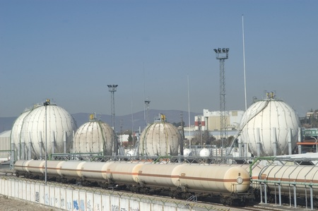 butane gas factory in the town of albolote (granada). industrial park. 14012011