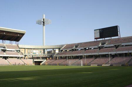 the football stadium carmenes, in the city of granada