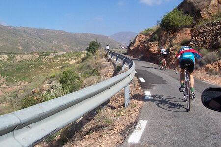 road cycling in the province of almería Stock Photo - 10666644