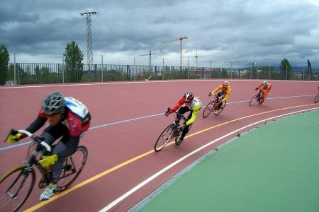 Trofeo de las capitulaciones en el velódromo de ciclismo en Santa Fe, provincia de Granada Foto de archivo - 10666643