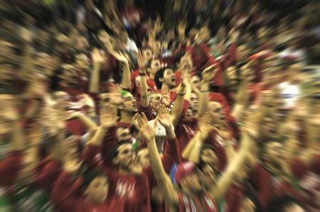 bleachers: many sports fans