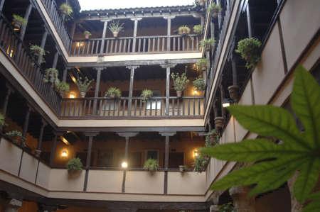 university of granada: ancient medieval mansion corrala santiago in the city of granada, now held by the university of granada
