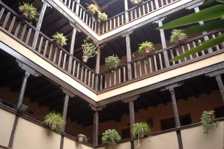university of granada: ancient medieval mansion corrala santiago in the city of granada, now held by the university of granada - 10032011