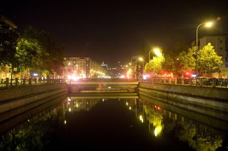 night view of the river genil, passing through granada - 10/03/2011 Stock Photo - 10807503