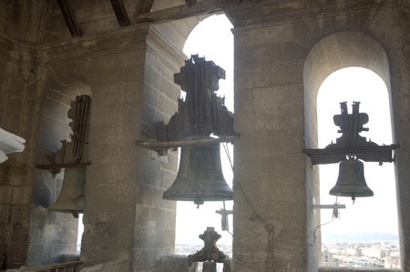 bells from the belfry of the cathedral of granada photo